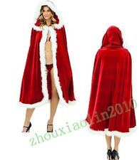 Santa Claus Adult Dress Cape Women Merry Christmas Costume Fancy Coat Dress New