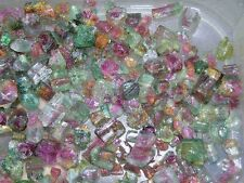 Watermelon Tourmaline crystal Nigeria 5-10mm gemmy 25 carat lot 2-5 piece