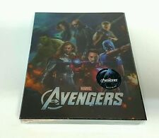 THE AVENGERS [2D + 3D] Blu-ray STEELBOOK [NOVAMEDIA] LENTICULAR [KOREA] NEW/#239