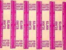 100 - Violet $20 Self-Sealing Currency Bands $2,000 Cash Money Straps For Twenty