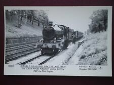 POSTCARD GWR DOUBLE HEADER LOCO NO 7827 - THE SOUTH WALES PULLMAN