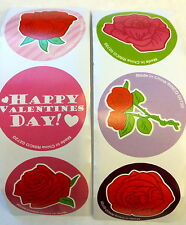 100 Rose Flower Happy Valentine's Day  Party Favors Teacher Supply