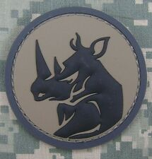 RHINO HEAD PVC MILITARY MORALE ISAF USA ARMY MILSPEC HOOK & LOOP ACU PATCH