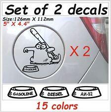 2 X Simons cat #5 Gas Fuel Tank Animals Cartoon Decals Stickers Graphics Vinyl I