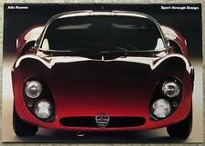 ALFA ROMEO SPORT THROUGH DESIGN GT JNR 33/2 Stradale Giulia SZ COUPE ++ Brochure