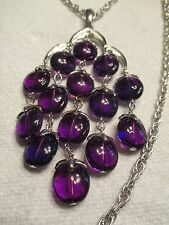 Genuine Vintage Trifari Waterfall Purple Estate Necklace
