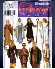 Simplicity 4797 Bible Characters Nativity Costumes PATTERN Child S - M - L