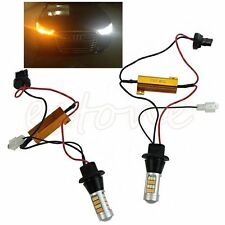 2pc T20 7440 42-LED 2835 50W LED DRL Dual-Color Switchback Turn Signal Light Kit