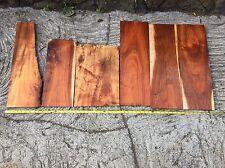 """Curly Hawaiian Koa Wood Reclaimed Salvaged Wood 6 Pieces 16-23""""x4-11""""x3/8-5/8"""""""