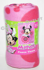 "MINNIE MOUSE BLANKET THROW FLEECE MINNIE MOUSE CLUBHOUSE 45"" X 60"" GIFT DISNEY"