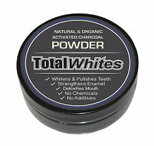 Natural Organic Activated Charcoal Powder Teeth Whitening, 'Total Whites' 25g