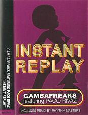 Gambafreaks feat. Paco Rivaz ‎Instant Replay CASSETTE SINGLE Electronic House