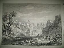 ESPAGNE ELCHé ARANJUEZ REINE ISABELLE CONSERVATOIRE ARTS & METIERS GRAVURES 1863