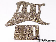 *NEW Bronze Abalone Stratocaster PICKGUARD & TREMOLO COVER for Standard Strat