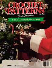 Crochet Patterns Herrschners Christmas Doll Hat Ornaments Dog Sweater Lamb 1991