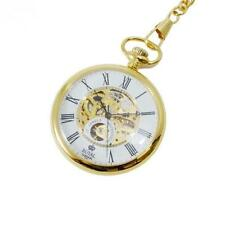ROYAL LONDON 17 Jewel Mechanical Gold PVD Stainless Steel Pocket Watch 90049-01