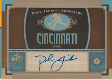 Paul Janish 2012 UD SP Signature Edition autograph auto card CIN5