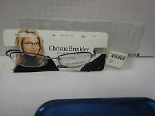 CHRISTY BRINKLEY Eyeglass Frames  CB 3102 in PURPLE 49-18-135 With Chipped lens