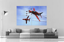 RED ARROWS AVION ROUGE ROYAL AIR FORCE 02 Poster Grand format A0 Large Print