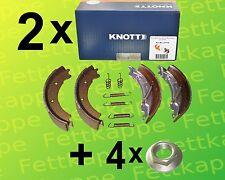 2 x Knott Bremsbackensatz 200x50 20-2425/1 47276 + 4 x Knott Flanschmutter