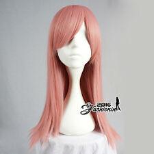 55CM Pink Basic Long Straight Fancy Party Women Hair Cosplay Wig Heat Resistant