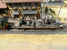 HO Roco Minitanks #1793 1st Panzer 88mm Artillery Custom Detailed Weathered