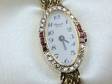 SALE 25% OFF Vintage Deco CHOPARD $12,000 1.00ct Natural Diamond Ruby 18k Gold