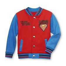 DC Comics Superman Toddler Boy's Stadium Jacket Size 4T New With Tag