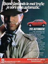Publicité advertising 1986 Peugeot 205 Automatic