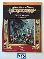 TSR ADVANCED DUNGEONS & DRAGONS DRAGONS OF DESPAIR DRAGON LANCE DL1 1984