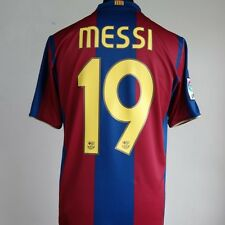 Barcelona Home Football Shirt Adult Medium MESSI #19 2007/2008 Centenary