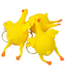 NEW Novelty Tricky Toys Chicken and Eggs Keychain Venting Squeezing Funny Toys