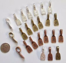 Floral Antique Style Bails Combo Pack (24) for Jewelry and Glass Fusing