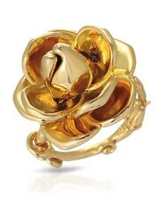 Kidada For Disney Couture Gold Plated Princess & The Frog Lotus Flower Ring 8.25