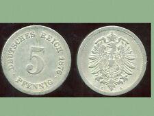 ALLEMAGNE 5 pfennig  1876 G