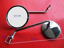 SUZUKI T500 TITAN 1979 / 1975 CLASSIC CHROME STEEL MIRROR SET L/R   (bi)