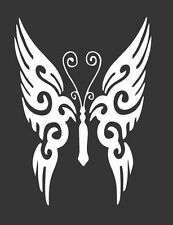 Tribal Butterfly - Die Cut Vinyl Window Decal/Sticker for Car/Truck