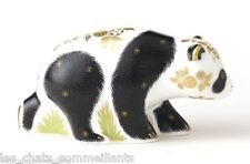 ROYAL CROWN DERBY, BABY PANDA PAPERWEIGHT, BACK STAMP, GOLD STOPPER, 1 ST Q, NEW