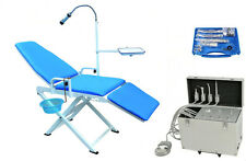 Portable Turbine Unit with Air Compressor 4H + Dental Chair + High Low Handpices