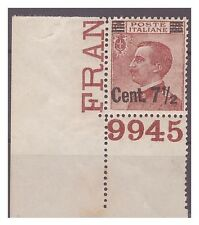 REGNO 1923  - SOPRASTAMPATI  - 7 1 /2  Cent su 85  NUOVO  **  NUMERO DI TAVOLA