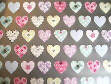 2 fogli carta da pacco le madri giorno e 2 ETICHETTE Regalo-Fidanzamento-cuori pastello