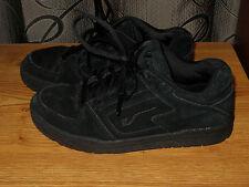 Vans Lunada Women Athletic Sneakers Leather Upper Black Sz 8M in Good Cond!