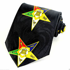 Masonic Stars Mens Neck Tie Masons Necktie Square Compass Freemansons Gift New
