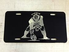 New England Patriots Minute Man Car Tag Diamond Etched on Aluminum License Plate