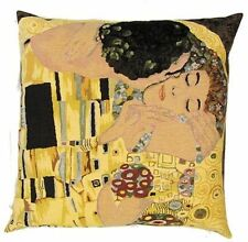 """NEW 18"""" 45CM GUSTAV KLIMT THE KISS TAPESTRY CUSHION COVER 3021 WITH LUREX THREAD"""