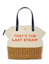 Kate Spade 'That's The Last Straw' call to action Terry Tote Bag