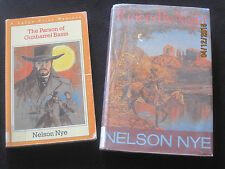 The Parson of Gunbarrel Basin & Riders By Night Nelson C. Nye Large Print jk54