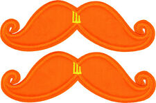 SHWINGS Orange Neon Mustache clip on Wings for shoes designer Shwings NEW 70103