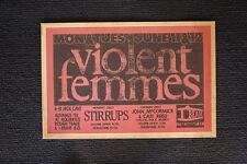 Violent Femmes 1984 tour poster San Francisco  I Beam
