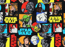 STAR WARS COMIC FABRIC 100% QUILTING COTTON PRINCESS LEIA CARRIE FISHER  YARDAGE